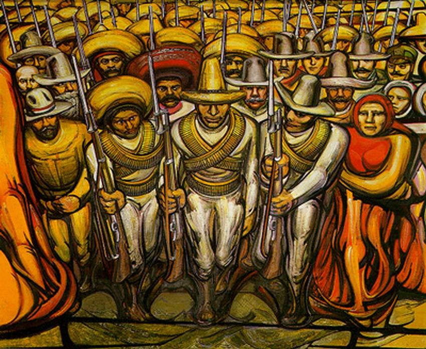 Art attack la marcha de la humanidad en la tierra y hacia for Arte mural mexicano